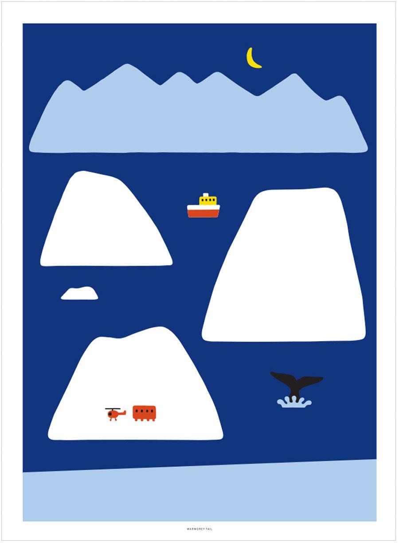Antarctica Deep Blue Poster (30x40cm)