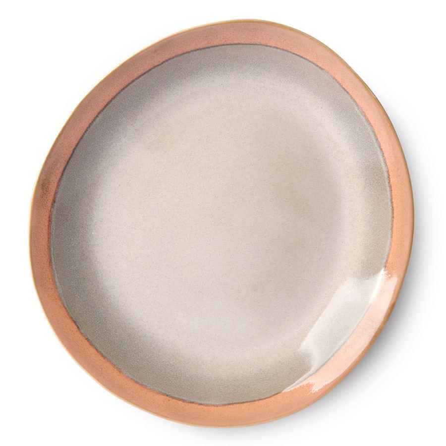 70's Ceramic Teller Earth Groß