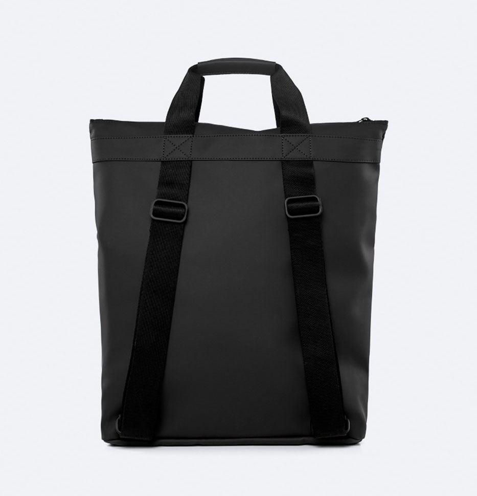 Rains Tote Backpack Black