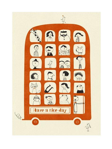 Magic Bus Poster (50 x 70 cm)