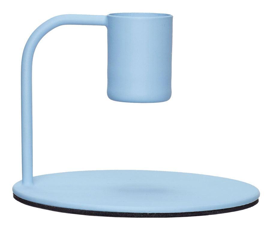 Kerzenhalter Metall Blau