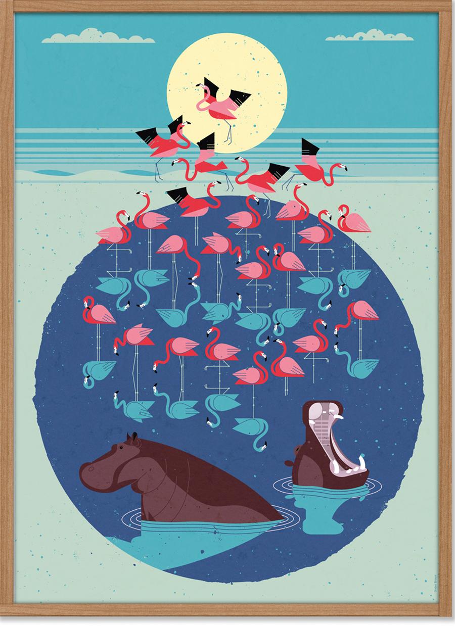 Flamingo Poster (50 x 70 cm)