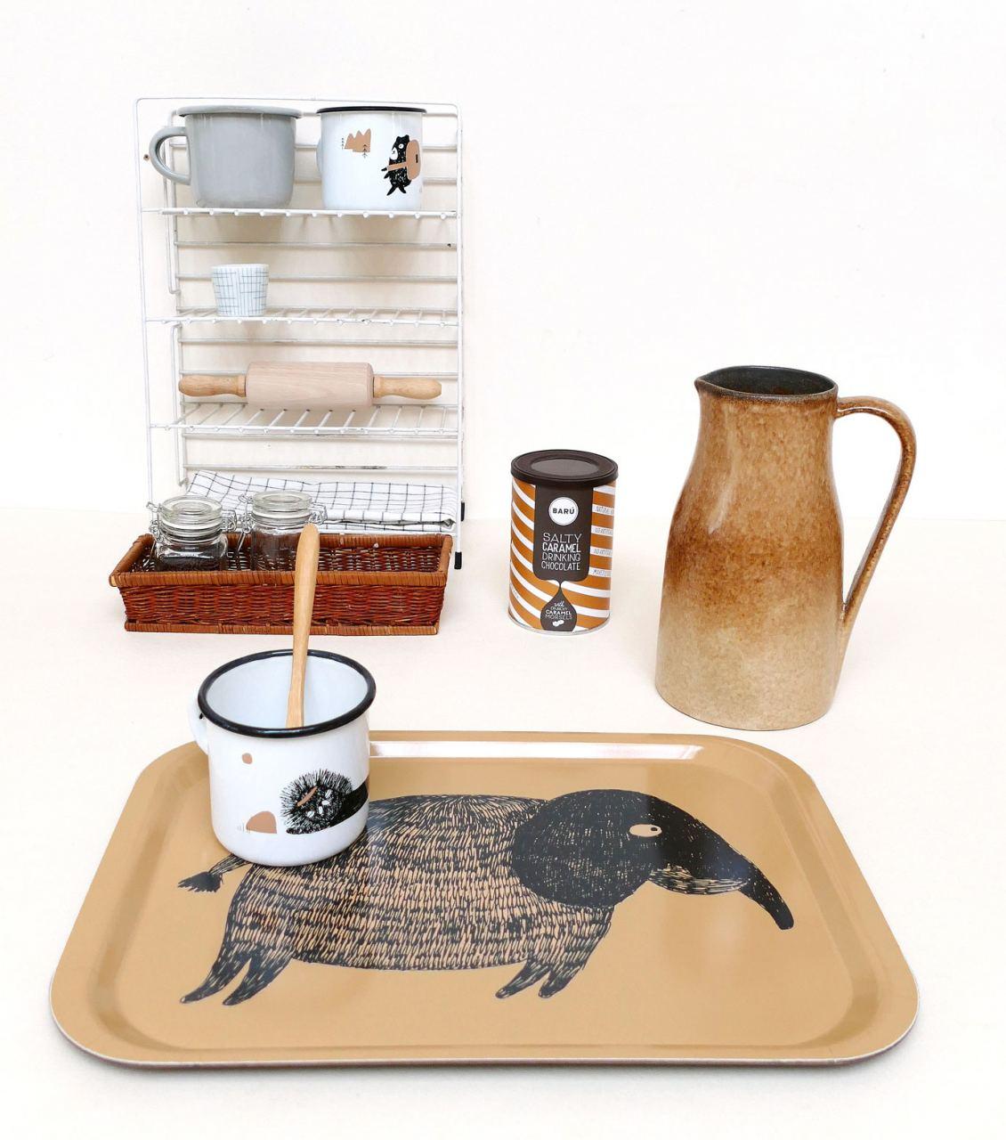 Ted & Tone Tablett Elefant (27 x 38cm)