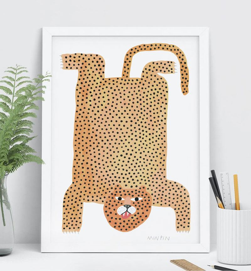 Jaguar Rug Din A3 Print
