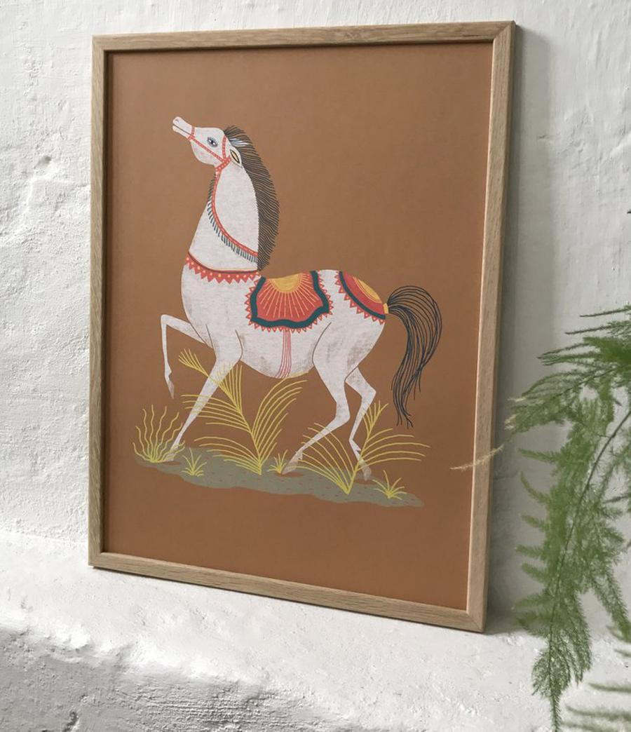 Spanish Horse Poster (30x40cm)