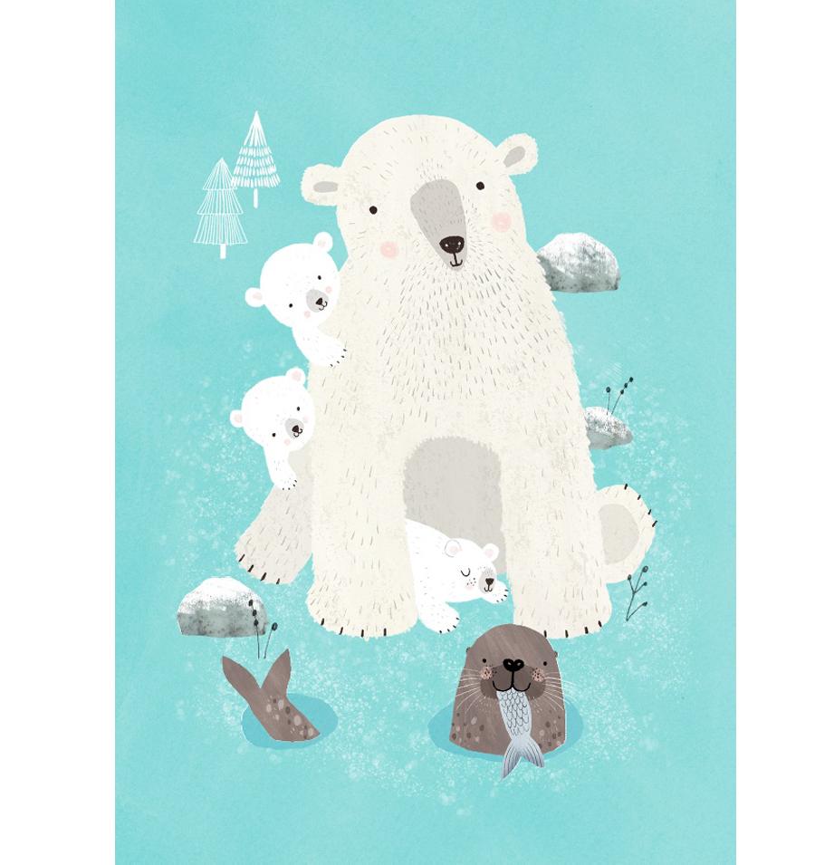 Nanook & Cubs Postkarte