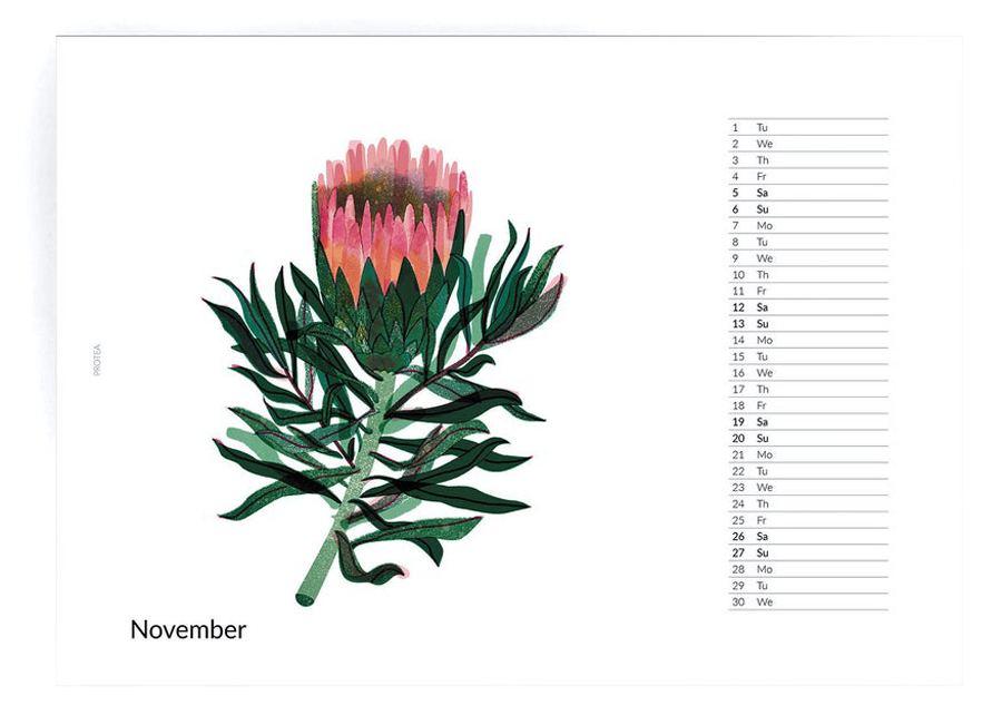 2022 Flowers Calendar