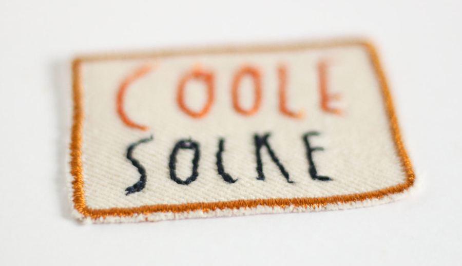 Aufnäher Coole Socke