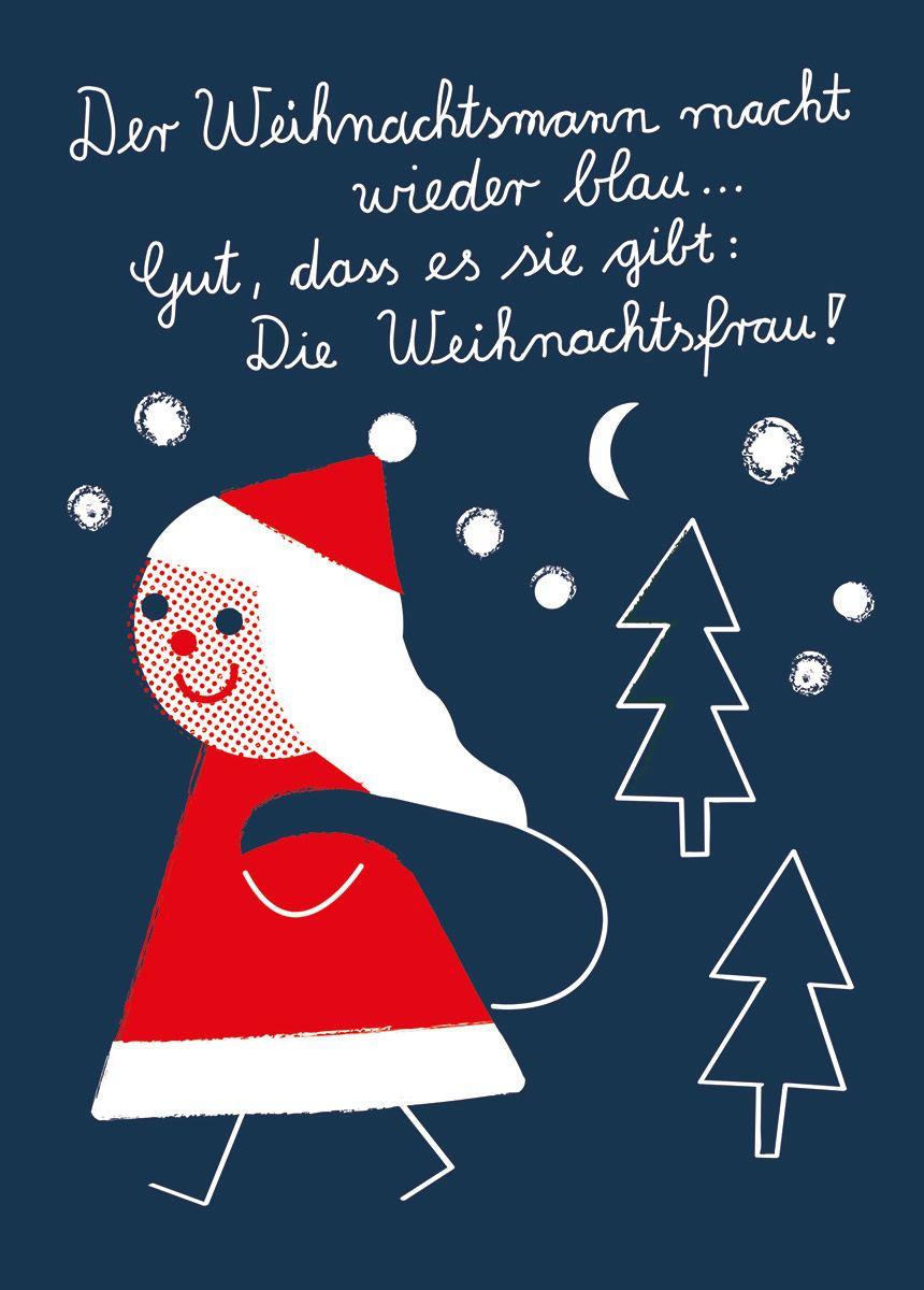 Weihnachtsfrau Postkarte