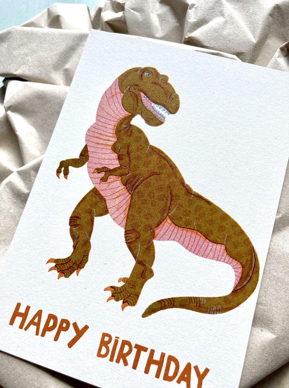Birthday Dino Postkarte