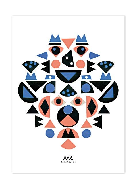 Kids Shapes Print (42x59,4cm)