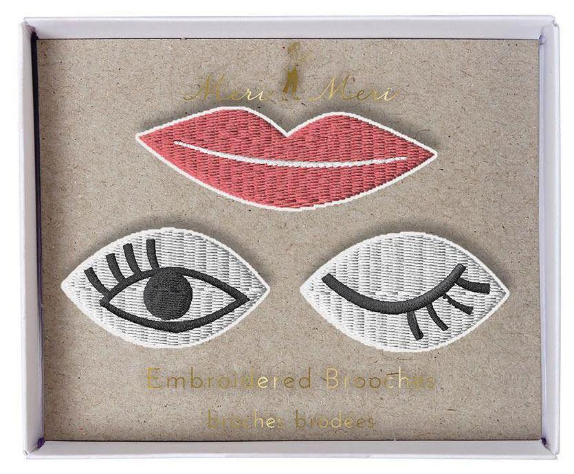 Eyes and Lips Broschen