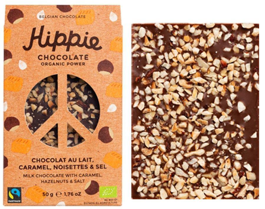 Hippie Chocolate Organic Power Milk Caramel Hazelnut Salt