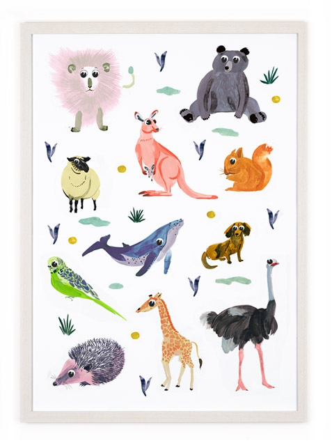 animals poster 50 x 70 cm human empire artist series human empire shop. Black Bedroom Furniture Sets. Home Design Ideas