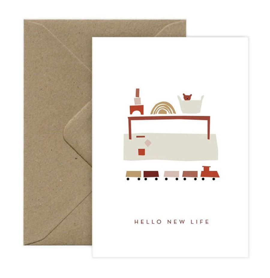 Hello New Life Klappkarte