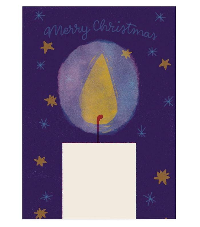 Christmas Candle Postkarte