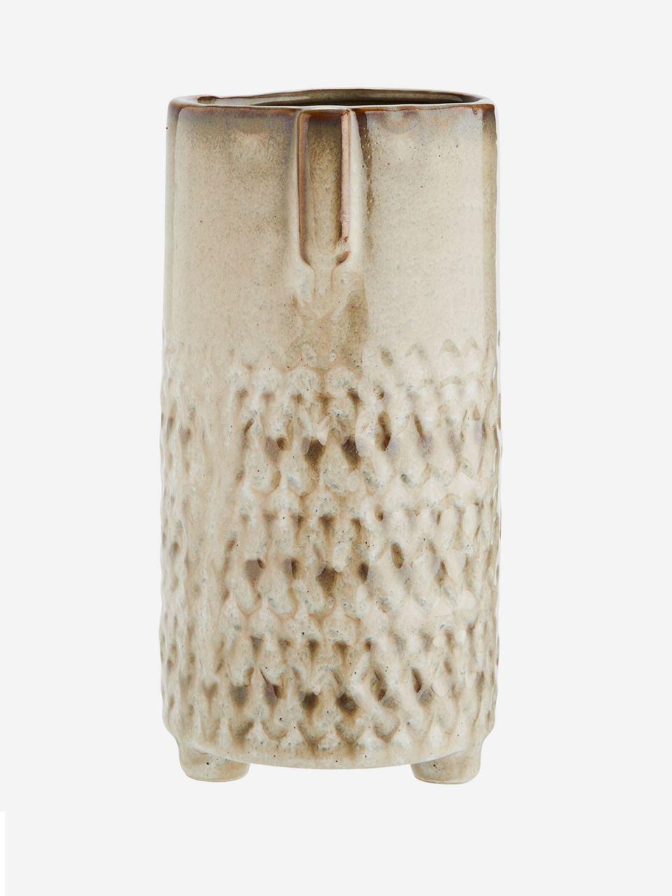 Vase w/ Face Beige