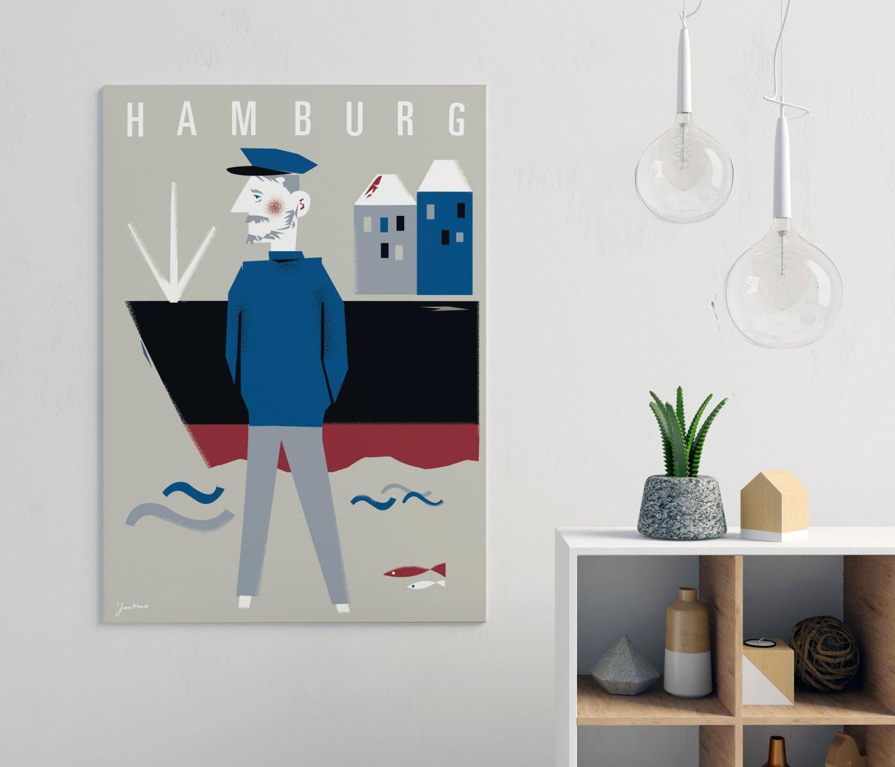 Hamburg Seebär Sand Poster