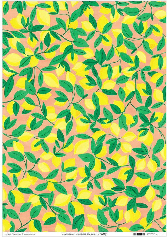 Lemon Geschenkpapier
