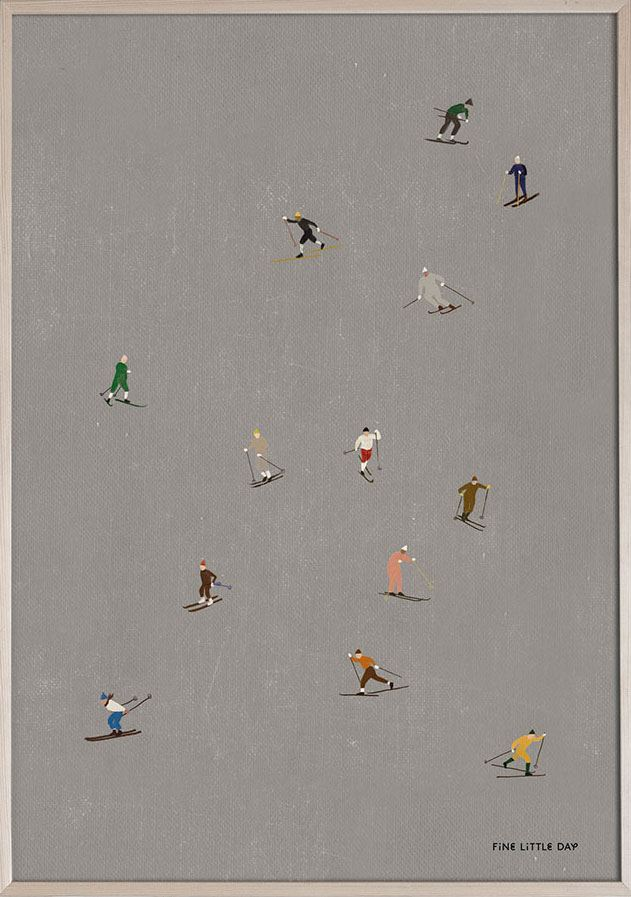 Skiers Poster (50 x 70cm)