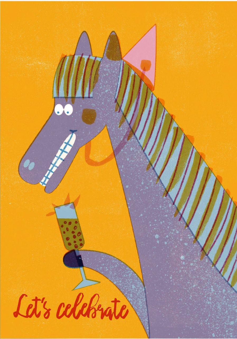 Celebrate Horse Postkarte