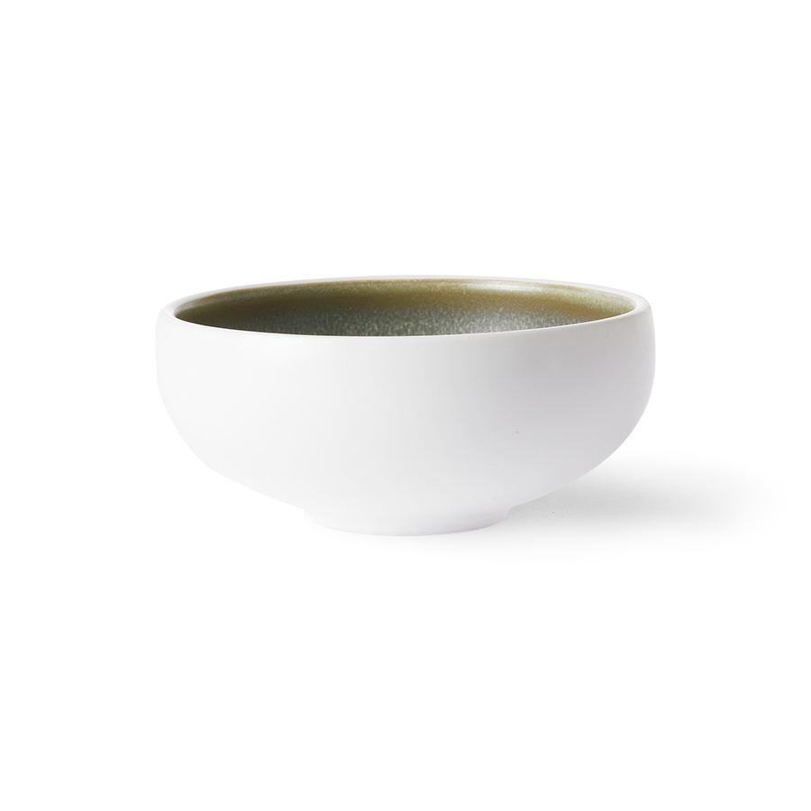 Home Chiefs Ceramics: Bowl White / Green