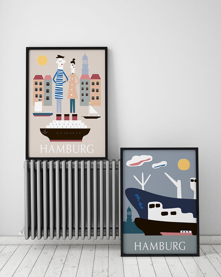 Hamburg Elbsonne Poster