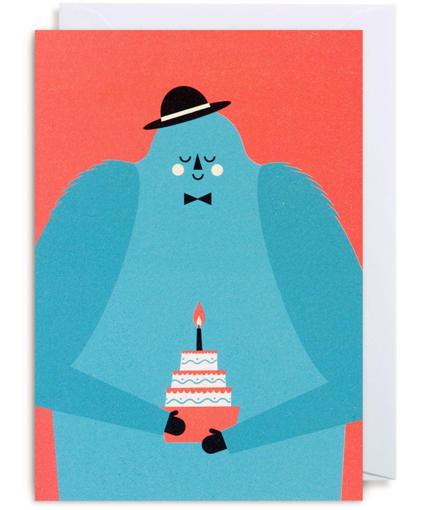 Monster Birthday Karte