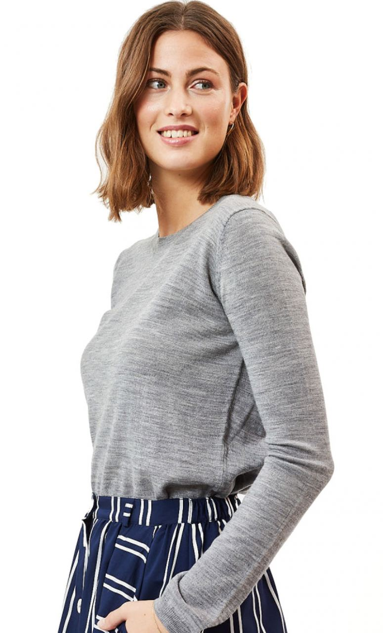 Italina Strickpullover Grey Melange