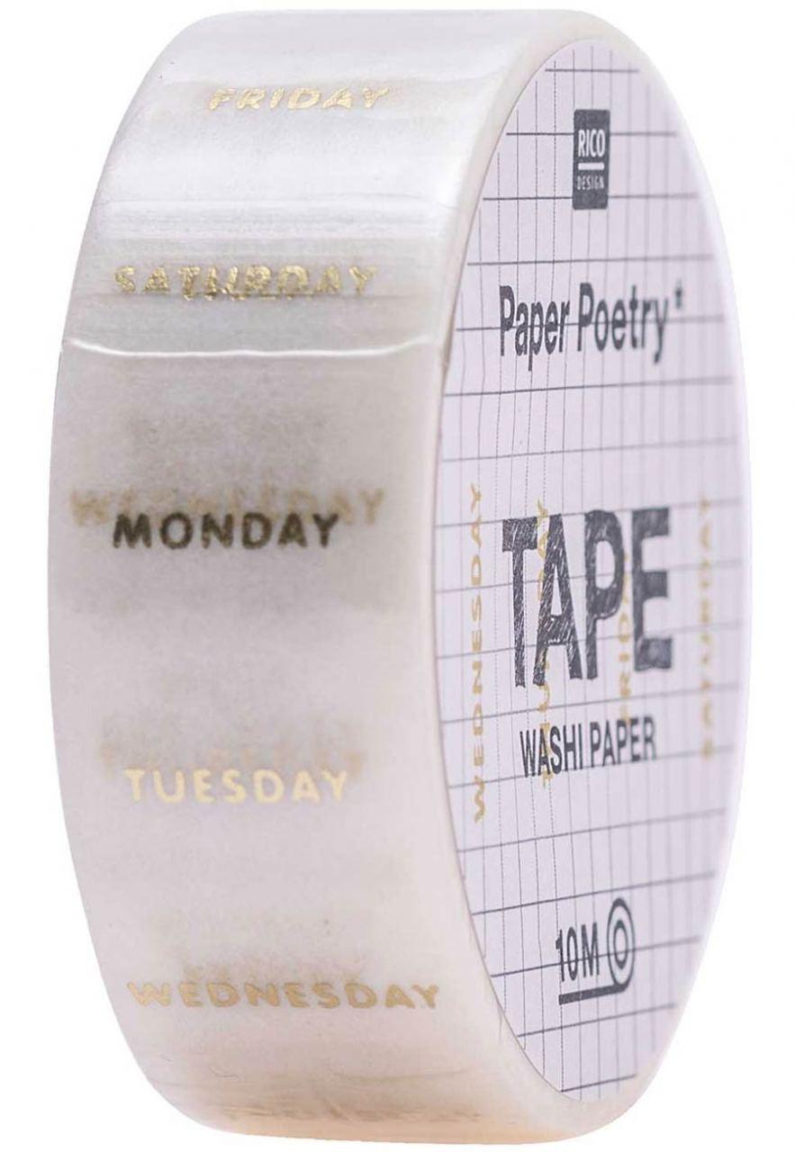 Wochentage Washi Paper Tape