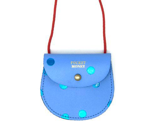 Spot Pocket Money Purse Cornflower Blue