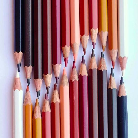 Hautfarben Buntstifte