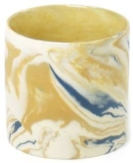 Becher S Cyl Marble Mustard & Blue