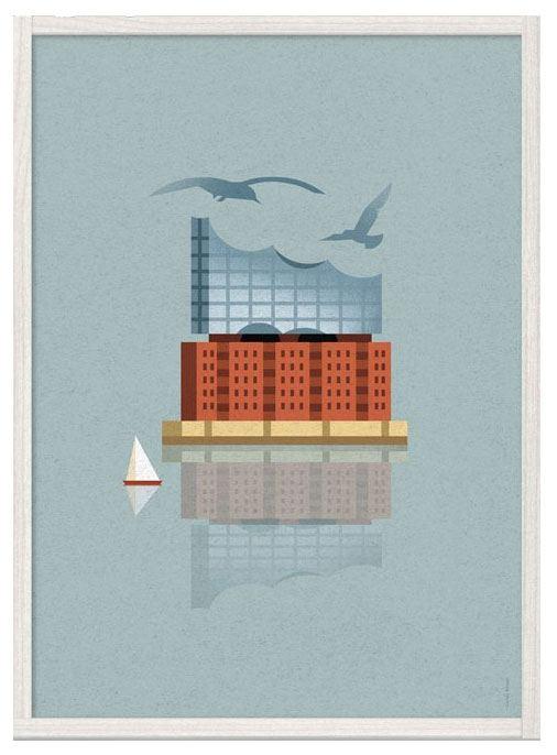 Elbphilharmonie Poster (29,7 x 42 cm)