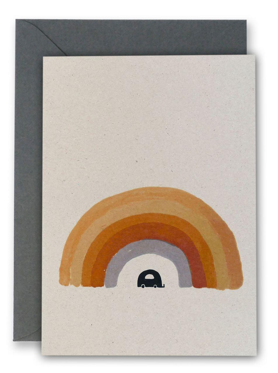 Ted & Tone Rainbow Klappkarte (Naturpappe)