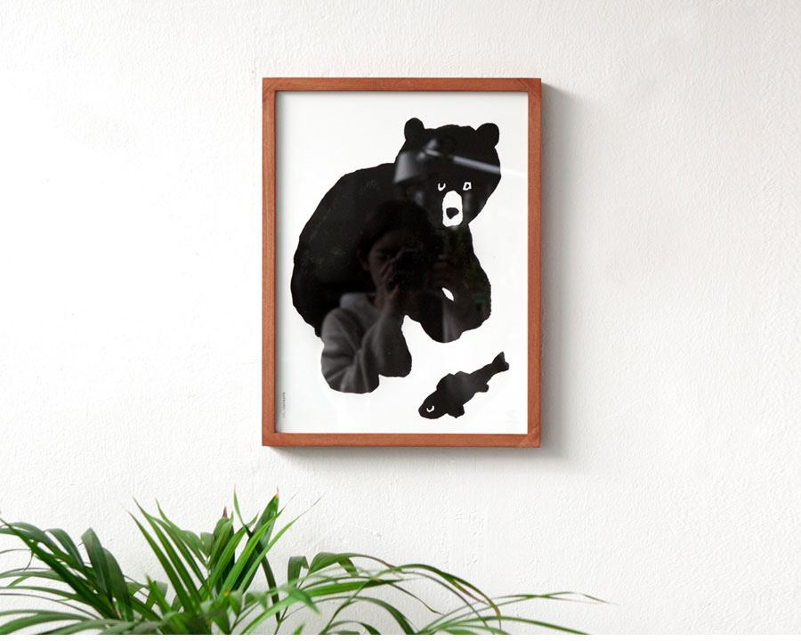 Black Bear Poster (30x40cm)