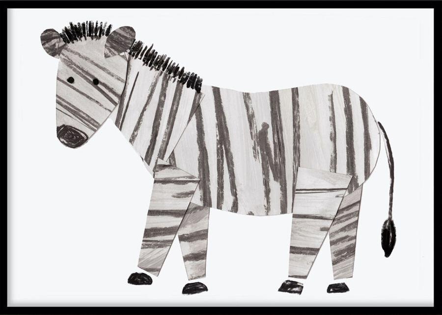 Poster Zebra (30x40cm)