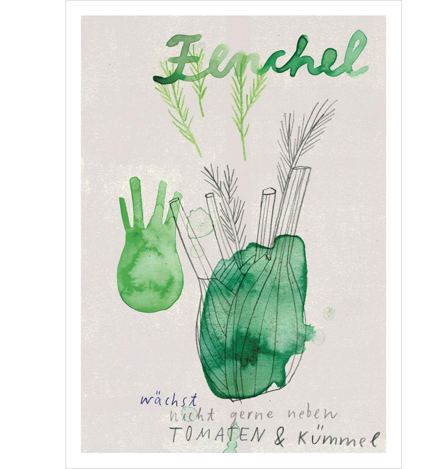 Fenchel Postkarte A6