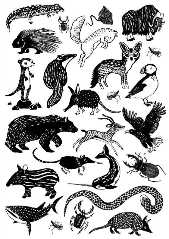Tattoos Black Animals