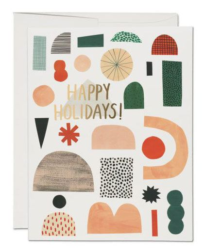 Happy Holidays Klappkarte