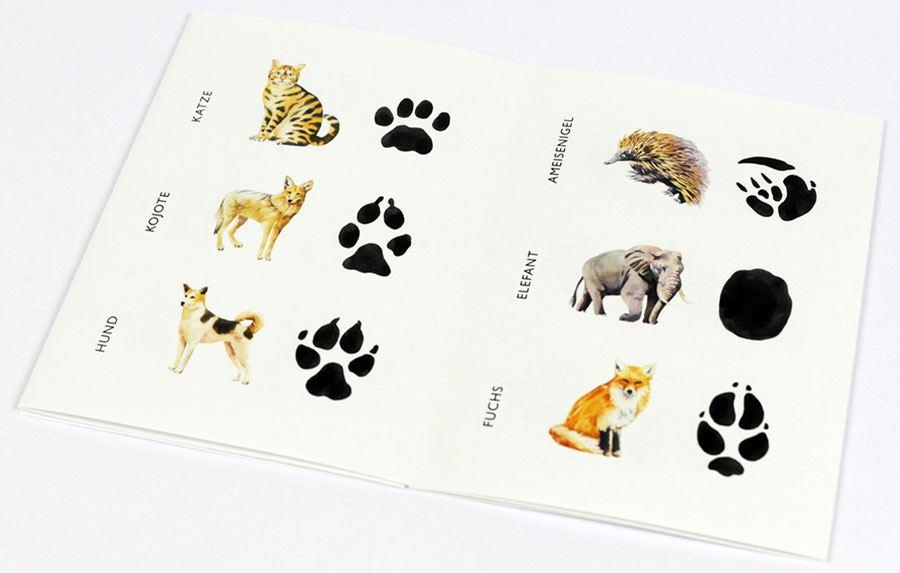 Memospiel Wilden Tieren auf der Spur