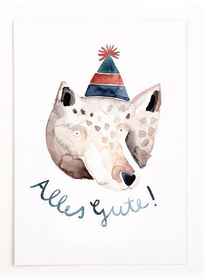 Alles Gute (Bär) Postkarte
