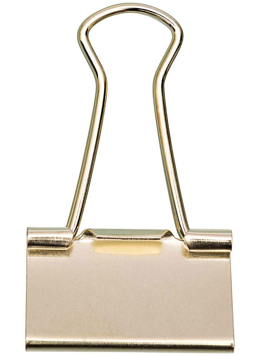 Foldback-Klammer 32mm Gold
