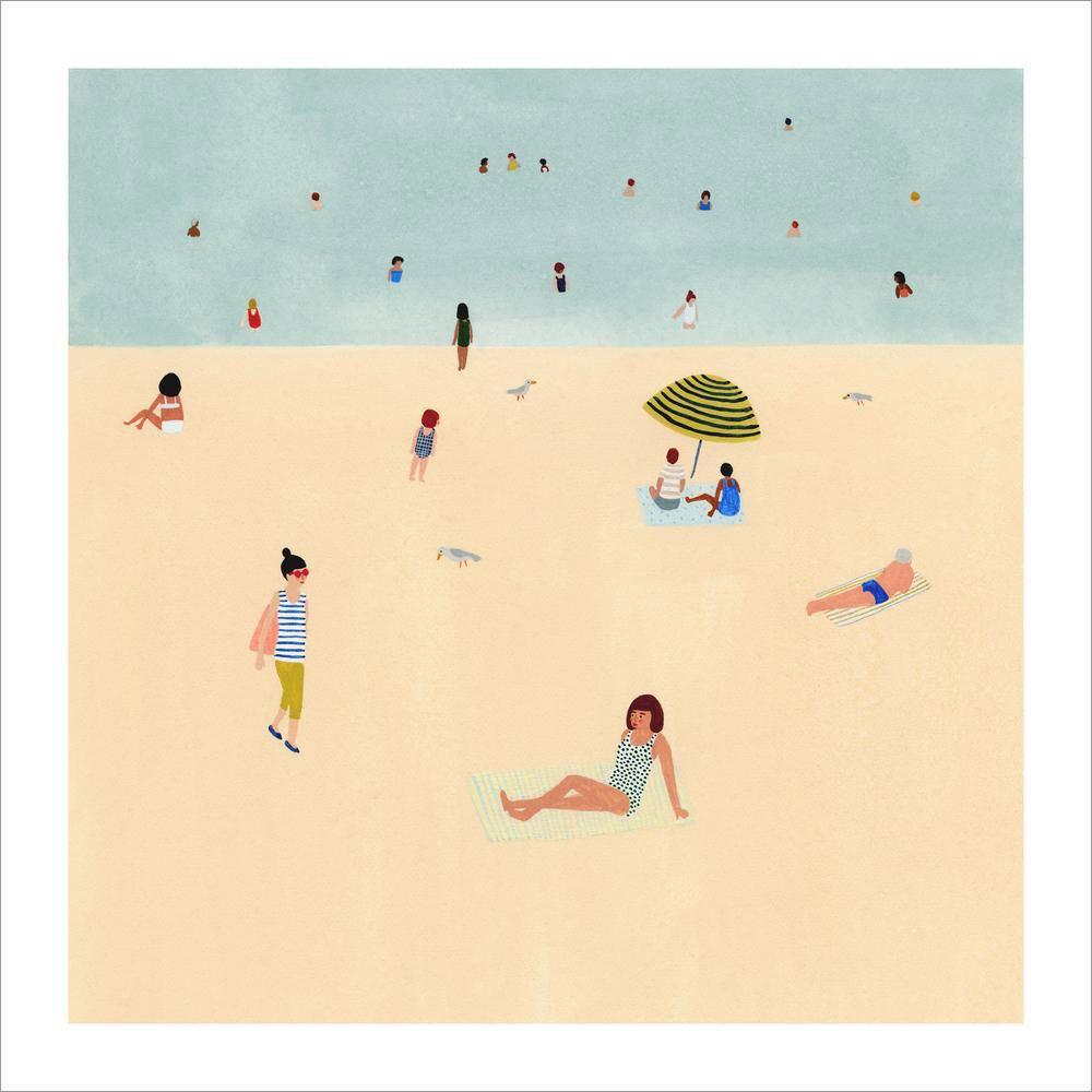Beach Print (ca. 20 x 20cm)