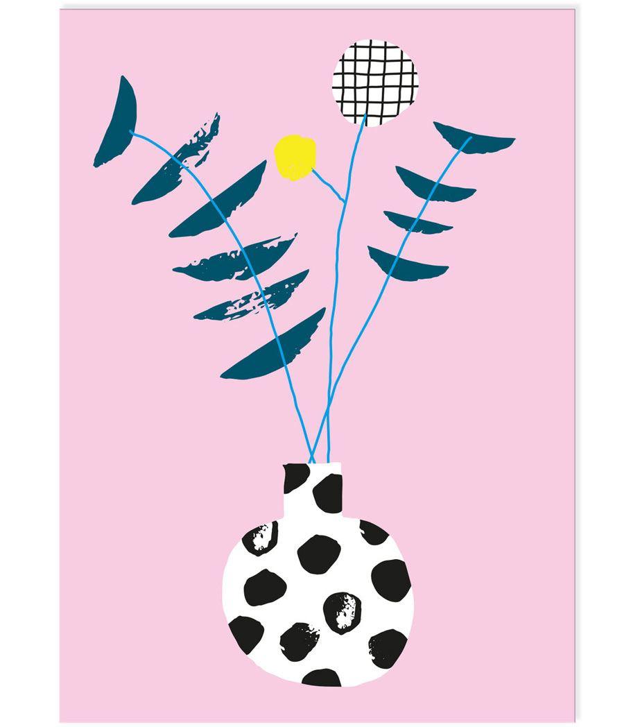 Blumenliebe Postkarte