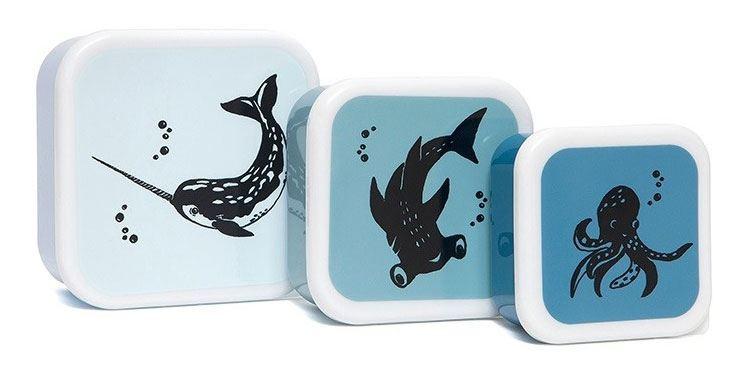 Sea Animals Lunchbox-Set (3 St.)