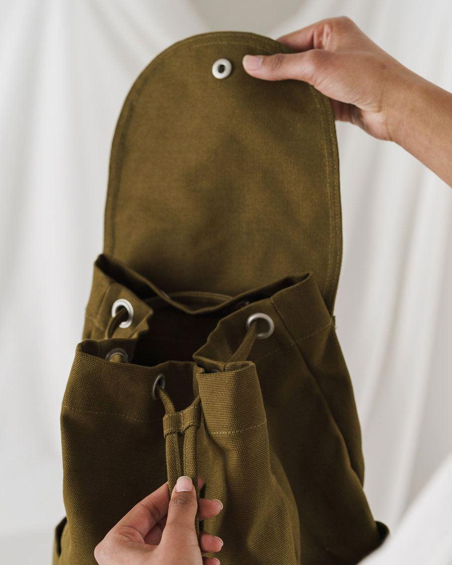 Drawstring Backpack Kelp