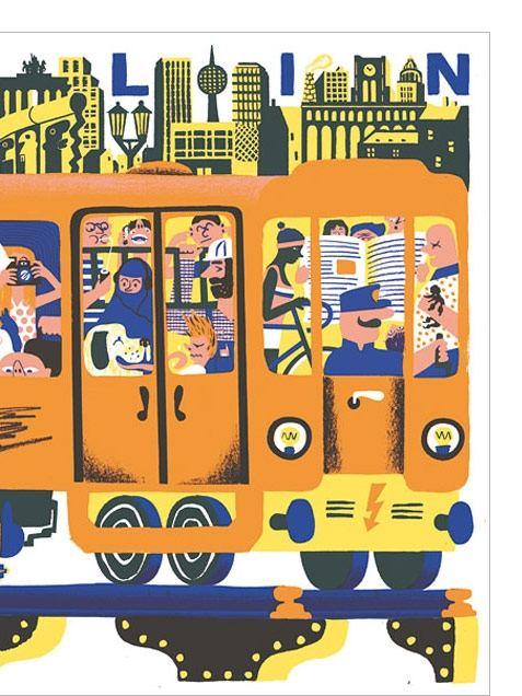 Berlin Tube Poster (50 x 70 cm)