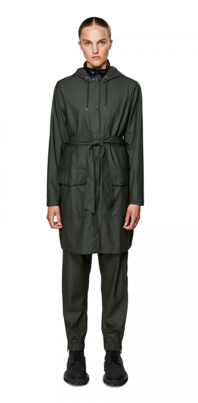 Rains Belt Jacket Green