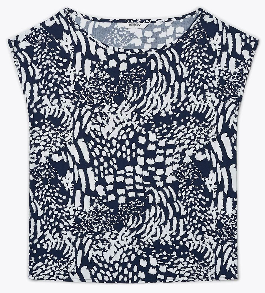 Melvin Printed Navy-Blue Off-White